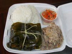lau lau, kalua pig and lomi salmon ... one of the things that I miss about Hawaii.