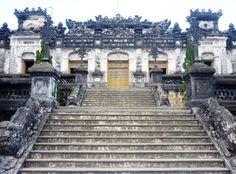 Khai Dinh Tomb.   It would be a mis-completed to come to Hue but not to visit the Emperors tombs. It's highly recommended to visit a King tomb to gain more knowledge and widen the eyes about the ancient life.