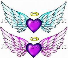 Image result for Heart with Angel Wings Tattoo