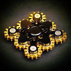 9 Gear fidget spinner black, Fidget hand spinner EDC Toys. Nine Gear fidget spinner high quality bearing, Brass materials, fidget toy. 9 Gear fidget spinner