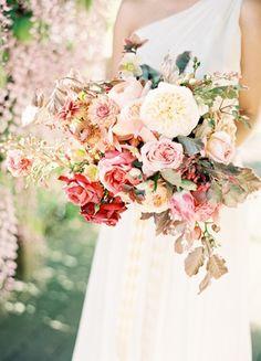 Dusty rose bouquet: #bouquet #pink: www.jenhuangblog.com
