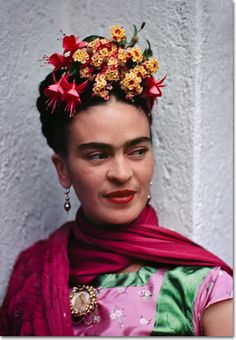 Frida in Pink and Green Dress by Nickolas Muray