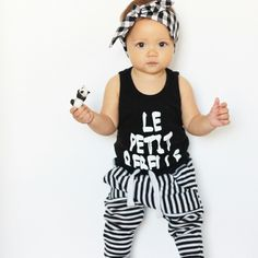 Headwrap: From Grace Romper: Little Urban Apparel Track pants: Big W Urban Apparel, Urban Outfits, Matilda, Head Wraps, To My Daughter, Track, Rompers, Big, Model