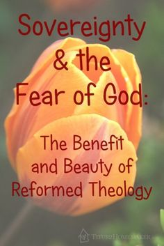Sovereignty & the Fear of God: the Benefit & Beauty of #Reformed #Theology  #t2hmkr