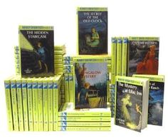 Nancy Drew series i think i read every single one of the books