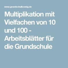 Zahlenraum 100 - Arbeitsblätter für die Grundschule | Schoolkram ...