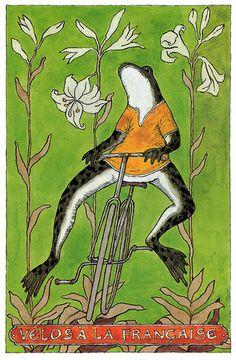 Edward Gorey – Velos à la francaise by laura - Bing 画像 John Kenn, Frog Illustration, Illustration Children, Frog Pictures, Funny Frogs, Edward Gorey, Frog Art, Design Poster, Frog And Toad