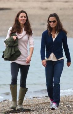 Kate and Pippa Middleton love their labels, as well as simple, practical and easy to wear pieces, especially when they're going for a beach stroll in Wales. Description from ldnfashion.com. I searched for this on bing.com/images