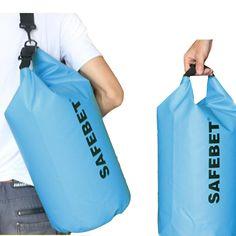 10L PVC Ultralight Dry Bag Swimming Floating Boating Kayaking Camping Hiking Outdoor Sports Dry Sack Clothing Anti-theft Waterproof Bucket Bags Blue