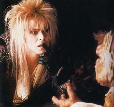 1986 - David Bowie as Jareth, The Goblin King in Labyrinth. David Bowie Labyrinth, Labyrinth Film, Jim Henson Labyrinth, Jareth Labyrinth, Labrynth, Movies And Series, The Thin White Duke, Goblin King, King David