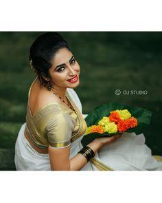 Image may contain: 1 person, text Beautiful Girl Indian, Beautiful Indian Actress, Beautiful Actresses, Gorgeous Women, Beautiful People, Beautiful Saree, Onam Wishes, Makeover Studio, Set Saree