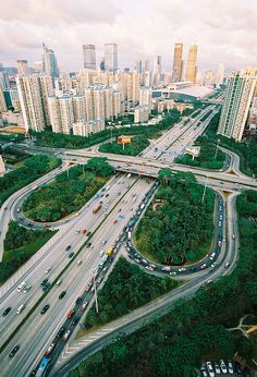Shenzhen, China - an artificially created city near the Hong Kong border Beautiful Roads, Beautiful Places, Places To Travel, Places To Visit, Futuristic Architecture, China Travel, Urban Planning, Countries Of The World, Beijing