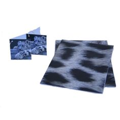 WWF Snow Leopard Giftwrap - now just £2.00! Each pack contains: two sheets of 50 x 70cm giftwrap and two 7.4 x 6.3cm tags. Shop now: shop.wwf.org.uk