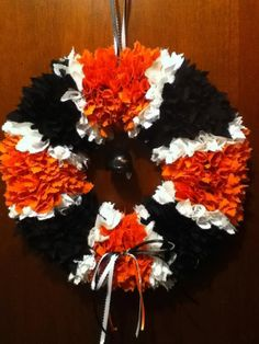 12inch Orioles Fabric Squares Wreath by HeartfeltHomeCreates, $30.00