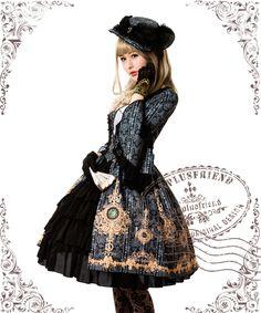 fanplusfriend - Ten O'Clock Cinderella, Rococo Lolita Elegant Gothic Flat Hat*2colors, $40.00 (http://www.fanplusfriend.com/ten-oclock-cinderella-rococo-lolita-elegant-gothic-flat-hat-2colors/)