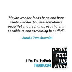 Preorder #IfYouFeelTooMuch before 5/26 and Tarcher/Penguin will donate an additional $1 to TWLOHA. (Link in profile)