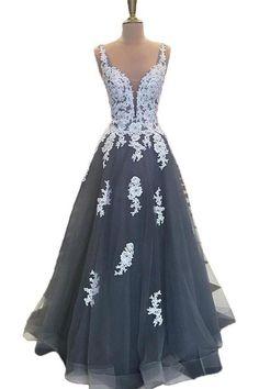 Lace Up Long Lace Tulle Elegant Beautiful Women Dresses Prom Dresses Z0759
