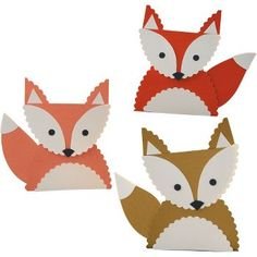 Want to decorate a fun table for Thanksgiving? Take your cue from a playful song and incorporate a fox theme. Or expand the motif to other woodland creatures — an owl, squirrel, deer — for a tabletop menagerie. Preschool Crafts, Crafts For Kids, Fox Party, Fox Crafts, Resident Assistant, Origami, Woodland Theme, Paper Source, Woodland Creatures