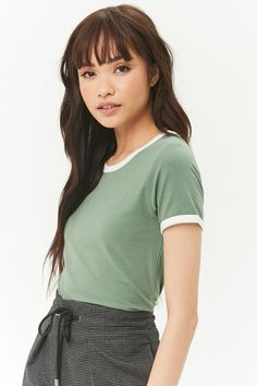 Product Name:Slub Knit Ringer Tee, Category:CLEARANCE_ZERO, Price:8