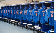 Mets Spring Training Locker Room
