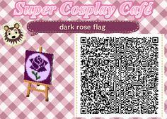dark rose flag - Animal Crossing New Leaf QR code
