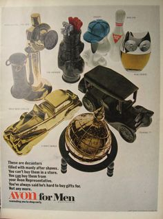 1969 Avon for Men Vintage Ad ~ Snoopy, Owl, Bowling Pin, Golf Clubs