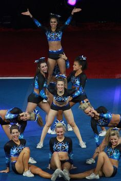 Plus Cheer Athletics competitive cheerleading competition stunt pose finish cheerleaders the-cheer-evoluti. Cool Cheer Stunts, Cheerleading Workouts, High School Cheerleading, Cheer Workouts, Competitive Cheerleading, Cheerleading Pics, Cheer Dance Routines, Cheer Moves, Cheer Jumps