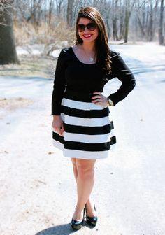 One Striped Skirt: Three Ways // Date Night Glam