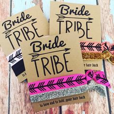 Bride Tribe Bachelorette Party Favors Hair by ElasticHairBandz
