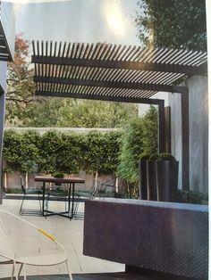 Pergola To House Attachment Timber Pergola, Modern Pergola, Outdoor Pergola, Pergola Kits, Backyard Patio, Backyard Landscaping, Pergola Designs, Patio Design, Garden Design