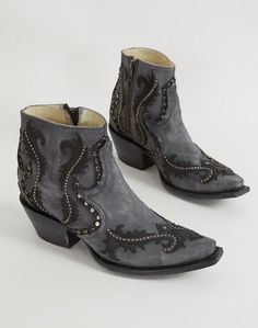 Short Cowboy Boots : Corral Studded Ankle Cowboy Boot | Buckle