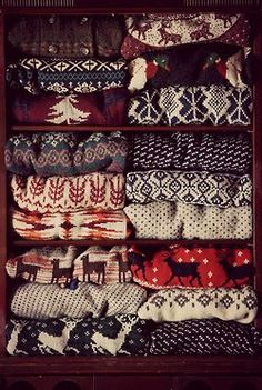 we no longer thought or reasoned as in the plain Christmas sweaters.. gotta love em!