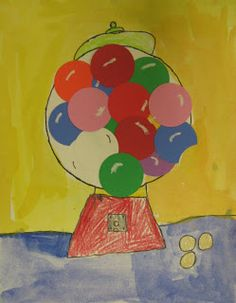 Art in the Big Green Room: 2nd grade...heres and idea to improve my gumball lesson. teach light and shadow