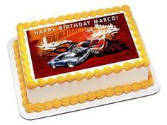 Edible Birthday Cake Topper,Hot Wheels