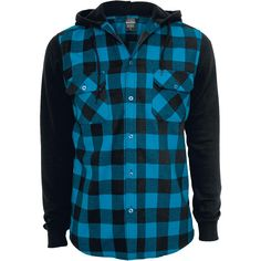 Hooded Checked Flannel by Urban Classics