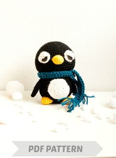 Amigurumi penguin pattern crocheted soft by SofiaSobeidePatterns