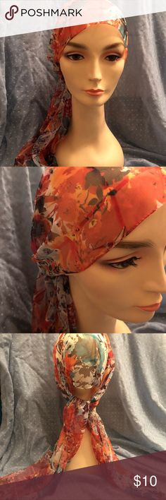 Lovely head scarf. Made in Italy. Gypsy/Boho. Reminds me of something Liz Taylor would have worn. Modeled by Flavia. Accessories Hair Accessories