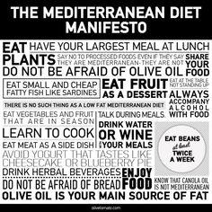 #Mediterranean #Diet Manifesto by olivetomato.com