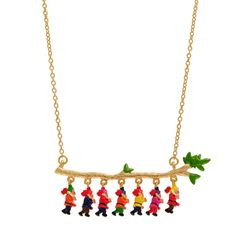 Snow White seven dwarves necklace by N2 | Little Moose | Cute bags, gifts, toys, jewellery and accessories from independent designers and famous brands