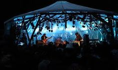 Festival Stage Tent Blue Lighting with Silhouette Body And Soul, Dublin Events, Tent, Ireland, Silhouette, Concert, Stage, Blue, Lighting
