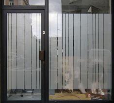 Marquage effet verre dépoli sur porte extérieure