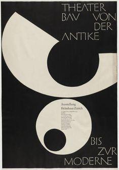 Armin Hofmann. Offset lithograph. 1955