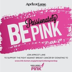 When someone has cancer, everyone that loves them does too. Join us in the fight against breast cancer! #passionatelypink #apricotlanegb #pink #research #cancersucks #fight #donate #giveback