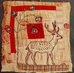 Mandy Pattullo aim is to create pieces which would make the viewer look again at old textiles which might be past their use by date. She is particularly passionate about very worn old patchwork quilts which were often made of old dressmaking off-cuts, old clothing and tailor's samples.