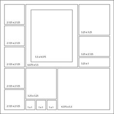 Scrapbook Layout : Sketch 22 - Five Square Stacked Border - Mosaic ...