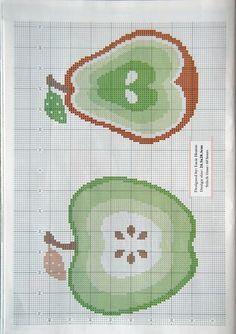apple pear cross stitch - Google Search