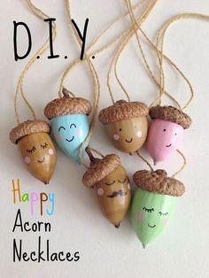 Gorgeous acorn necklaces!: Gorgeous acorn necklaces!