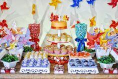 Gemelares.com.br - Site para gestantes e mães de gêmeos, trigêmeos, quadrigêmeos ou mais! : 52 Ideias para Decoração Festa Cata-vento