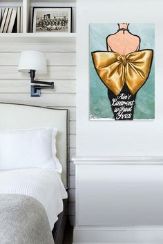 Oliver Gal Aint Laurent Fine Art Canvas by Oliver Gal Gallery on @HauteLook