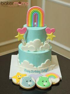 IMG_7506 Care Bear Cakes, Teddy Bear Cakes, Care Bear Party, Care Bear Birthday, Cupcakes, Cupcake Cakes, Cake Decorating Books, Dora Cake, Birthday Party Snacks